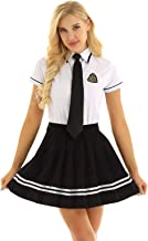 ACSUSS Women's Schoolgirl Costume Japanese Uniform Dress Sailor Suit Outfits Set