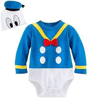 Disney Store Deluxe Donald Duck Halloween Costume Bodysuit Size 6-9 Months White