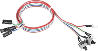 uxcell 2 PIN Power Cable with 2 Clear LED, 2 On Off Switch for ATX Computer 55cm 3pcs