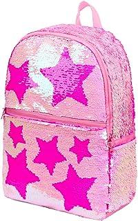 Sequin School Backpack, Pink (Pink) - Star-2