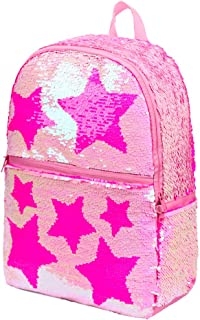 Sequin School Backpack for Girls Kids Cute Elementary Book Bag Bookbag Teen Glitter Sparkly Back Pack