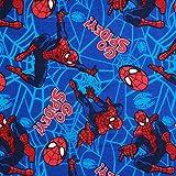 Spiderman Superhelden-Stoff aus gebürsteter Baumwolle,