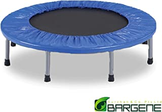 36 Inch Mini Trampoline Jogger Rebounder Home Gym Workout Fitness Outdoor Indoor Blue