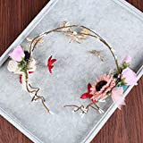 Couronne de fleurs séchées Gypsophila , pink