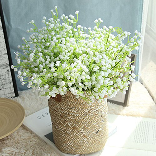 Gaddrt Gypsophila - Ramo de Flores Artificiales de Seda, para decoración de casa, Mesa, Hotel, cafetería, Tienda, etc.