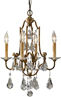 "Feiss F2480/4OBZ Valentina Crystal Candle Chandelier Lighting, Bronze, 4-Light (16""Dia x 22""H) 240watts"