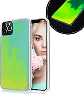 Losin Fluorescent Case Compatible with Apple iPhone 11 6.1 inch Case Luxury Glow in The Darkness Noctiluncent Liquid Luminous Sand Hard PC + Soft TPU Fluorescent Case