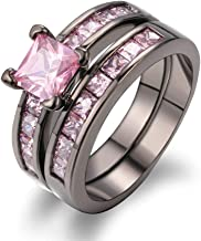 pink camo diamond ring