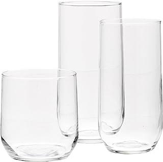 AmazonBasics 18-Piece Clear Glassware Set