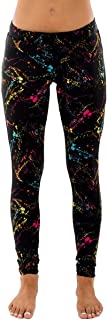 Splatter Neon Leggings - Neon Retro Rainbow Tights for Women