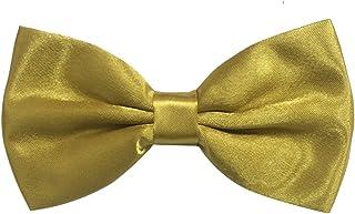 Mens Fashion Tuxedo Solid Color Pre-tied Adjustable Bow Tie Bowties