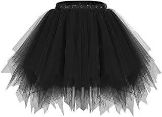 bridesmay Kurz Damenrock 50S Retro Petticoat Minirock Ballett Tanzkleid Rockabilly
