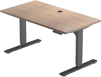 "PROGRESSIVE AUTOMATIONS 47"" Oak Standing Desks, 47""x26"", 59"" Cherry/Black Frame"