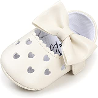 Bebila Baby Girls Sandals Soft Soled Bow Ballet Toddler Dress Shoes Anti-Slip Mary Jane Baby Moccasins