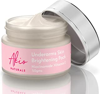 Akio Underarms Skin Brightening Pack | with Vitamin B3 (Niacinamide), Vitamin E, Lemons, Olive oil and Papaya extracts | f...