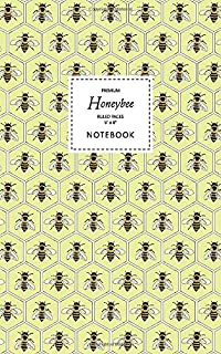 Honeybee Notebook - Ruled Pages - 5x8 - Premium: (Yellow Edition) Fun bee notebook 96 ruled/lined pages (5x8 inches / 12.7...
