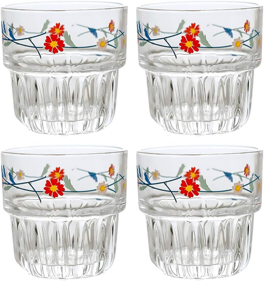Hemoton 4pcs Glass Coffee Cups Drinking Glasses Mugs with Challenge the lowest Sales of SALE items from new works price of Japan