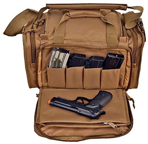 Range Bag Handguns Tactical Gear Shooting Gun Padded Pistol Case Ammo Black