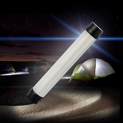 ZHYY Lanterne de Camping à LED, 4 Feux de Survie de Batterie 2000mAh Recharge USB, dimmable, kit pour ouragan, Urgence, tempête, pannes