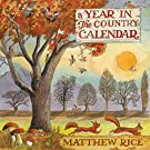 Matthew Rice A Year in The Country 2021 Wall Calendar (30.5 x 30.5 cm)