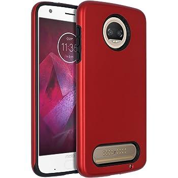 Moto Z2 Force Case,SENON Slim-fit Shockproof Anti-Scratch Anti-Fingerprint Protective Case Cover for Motorola Moto Z Force (2nd Generation) Red
