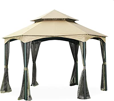 Garden Winds Replacement Canopy for the Dutch Harbor Gazebo RipLock 350