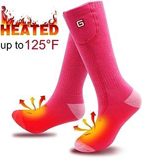 SVPRO Rechargeable Electric Battery Heated Socks,Men Women Warm Heated Socks,Sport Outdoor Indoor Thermal Heating Foot Warmer
