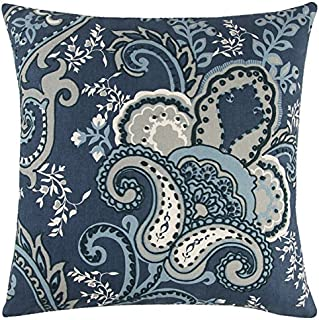 Rizzy Home Andrew Charles Collection Floral, Cotton Duck Decorative Throw Pillow, 20