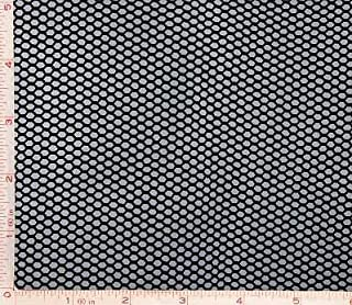 Black Medium Hole Fishnet Fabric 4 Way Stretch Nylon 58-60