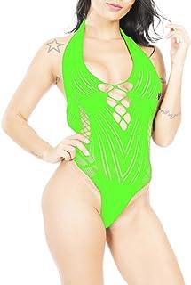 b2db8c1e1d1 LemonGirl Women Lingerie Bodystockings Off Back Babydoll Bodysuit One Size