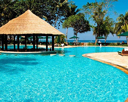 JANXM Pintura por Números En Lienzo Resorts Costa Rica Kits