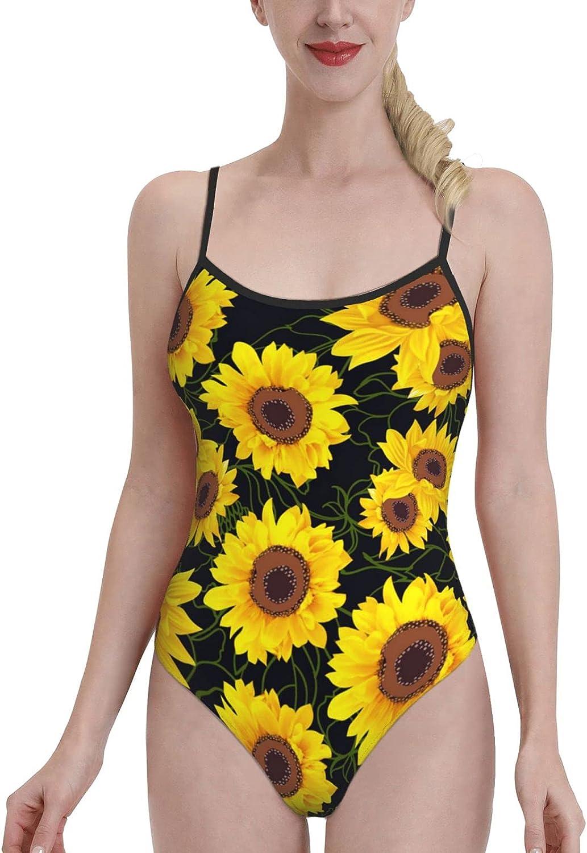 Women's One-Piece Swimsuit Sports Fashion-Funky Golden Sun Flo-Wer