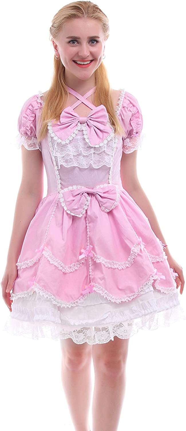 Nuoqi Girls Lolita Gothic Dress Super Special SALE held Party Princess Bl Layers Evening safety