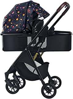 Best Baby carriage 2-in-1 Stroller, Shock-Absorbing Portable Stroller One-Handed Foldable Stroller, Adjustable high-View Stroller Travel System Stroller Two-Way Implementation Review