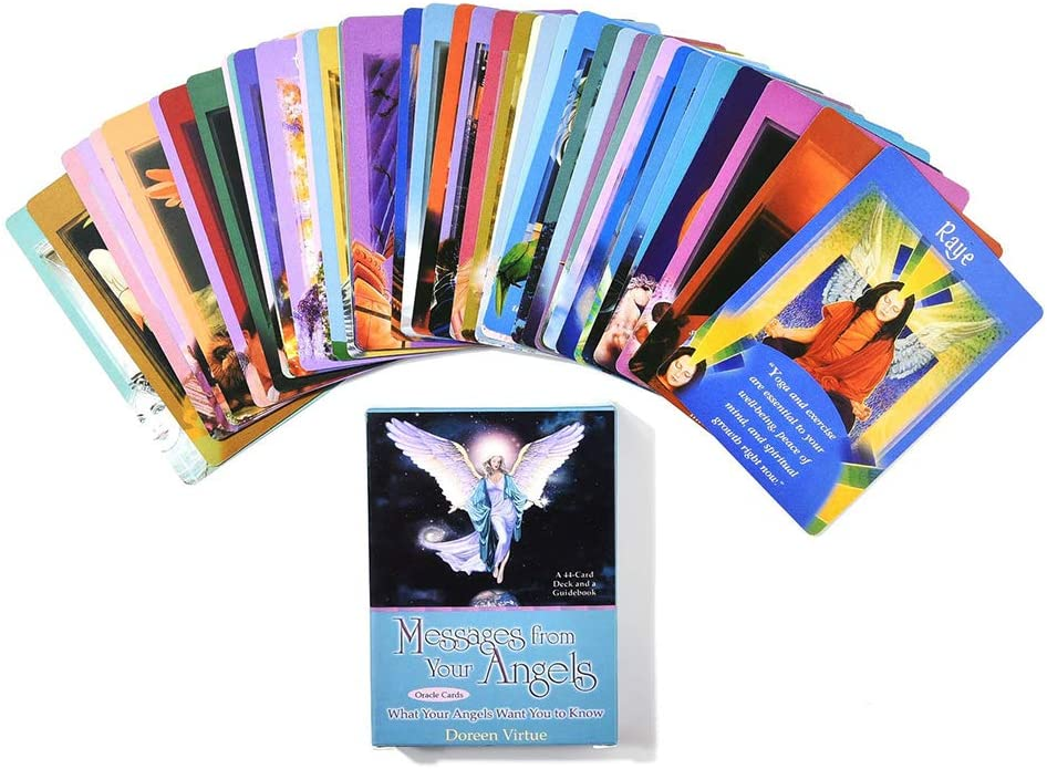 MKEB 44 Cards Tarot Cards Deck Tarot Card Messages from Oracle Card Casual Card Game 1