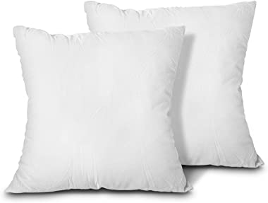 EDOW Throw Pillow Inserts, Set of 2 Lightweight Down Alternative Polyester Pillow, Couch Cushion, Sham Stuffer, Machine Washa