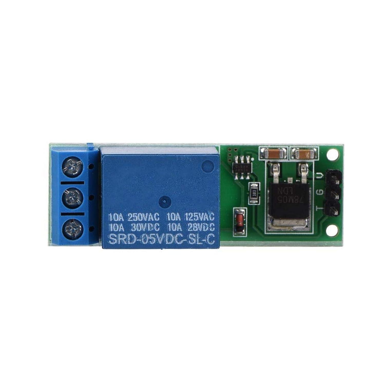 Relé de enclavamiento Mini 6-24V Módulo de relé de enganche biestable Interruptor de autobloqueo biestable Tablero de activación de pulso bajo