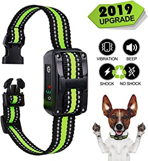 Zapuno Small Bark Collar Rechargeable for Dogs,Anti Barking Collar for Small Dogs -Waterproof Smallest Humane Stop Barking Collar - No Shock Bark Collar - Safe Pet Bark Control Collar