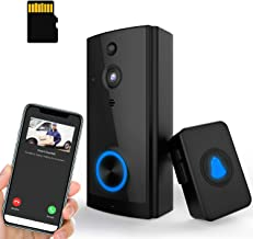 $69 » 【32GB Preinstalled】WiFi Video Doorbell Camera 1080P HD with Chime, No Monthly Fees, Wireless Doorbell with 2 Way Audio, Motion Detector, Night Version, Rechargeable Batteries, IP65 Waterproof Geoyeao