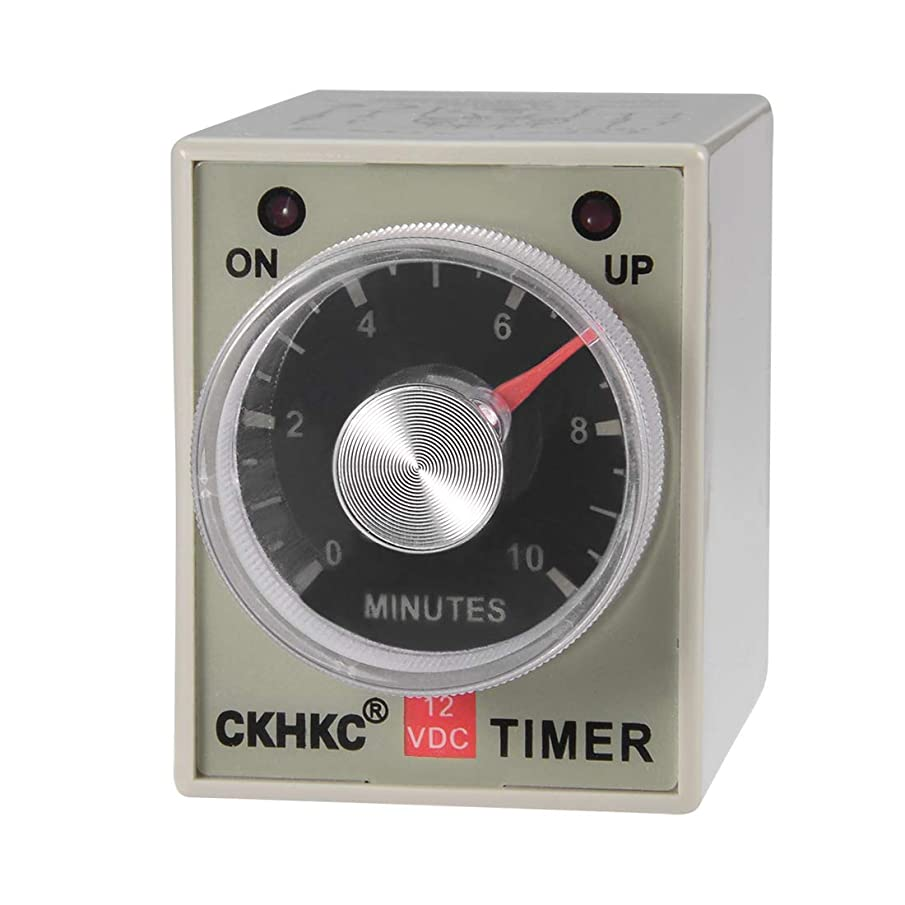 uxcell DC12V Rated Voltage 10M 8 Terminals Range Adjustable Delay Timer Time Relay AH3-3