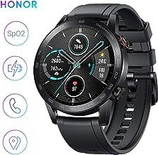 HONOR Smartwatch Magic Watch 2 Fitness Tracker Watch Hombre Mujer Smart Watch, 5 ATM Smart Watch Muñeca Monitor de ritmo cardíaco Presión Smartband, GPS, 46 mm, Llamada por Bluetooth, Negro mate