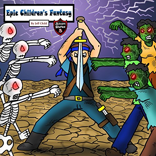 Epic Children's Fantasy audiobook cover art