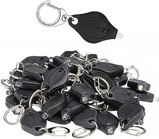 50 Packs Mini Keychain Flashlight Mini LED Light Keychain,Dog Light, Dog Collar Light,pet light,white light
