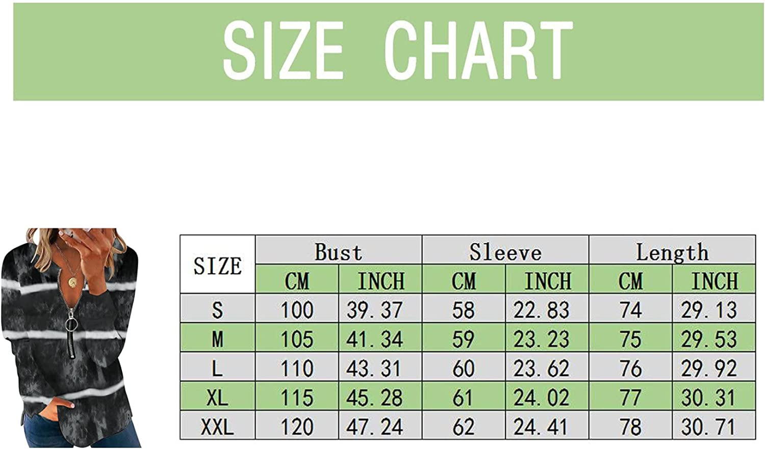 FABIURT Long Sleeve Tops for Women, Womens Fashion V Neck Solid Zipper Pullover Sweatshirts Casual Loose T Shirt Blouses