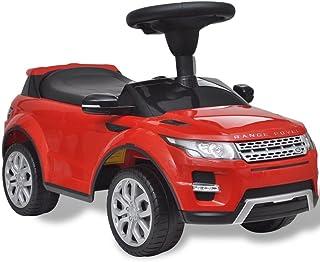 TDSPEU Coche de Juguete Rojo con música, Modelo Land Rover 348