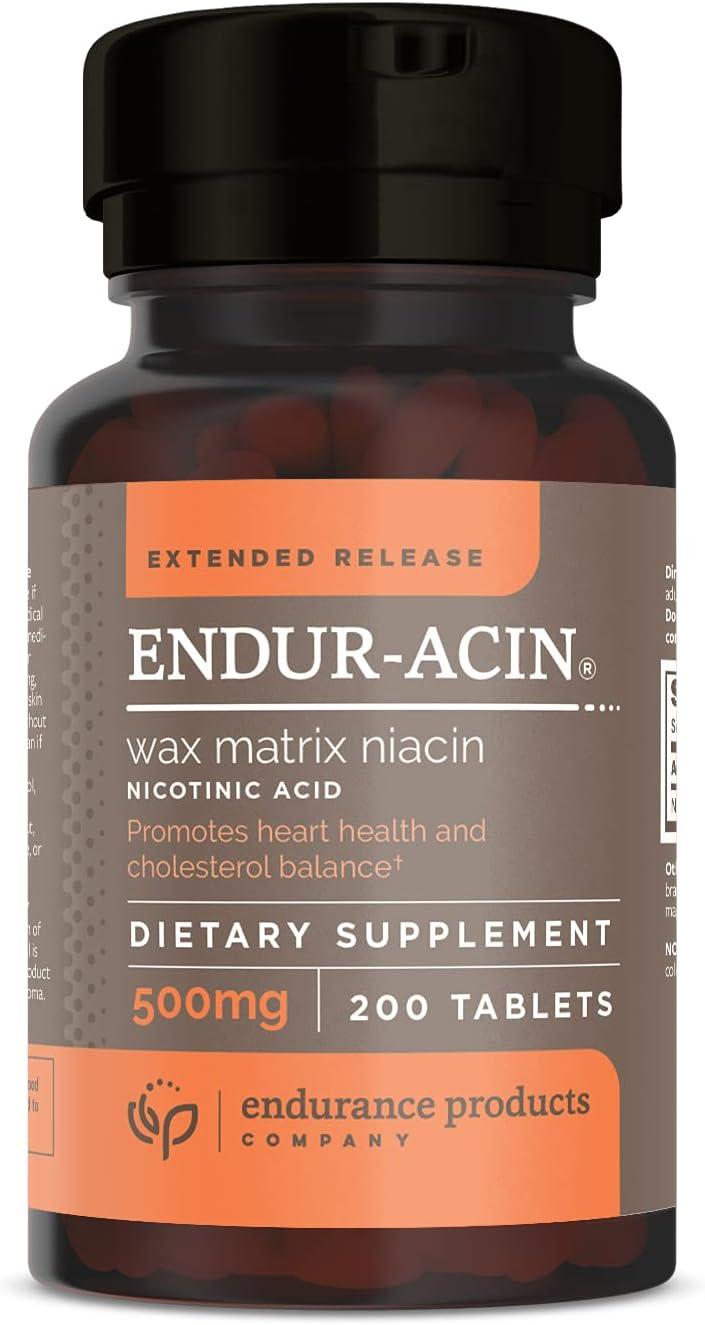 ENDUR-ACIN Superlatite Niacin - Vitamin B3 High order Extended 500mg Low-Flus Release
