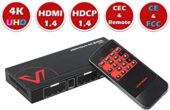 AV Access HDMI Matrix 4x2, 4K HDMI Matrix Switch, 1080P 3D, Dolby TrueHD, DTS-HD Master, PCM7.1, 3.5mm Stereo Audio, Auto EDID, IR Remote, CEC Control TV