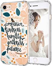 iPhone 8 Case, iPhone 7 Case Slim, MOSNOVO Floral with Flower Quote Clear Design Back Phone Case and TPU Bumper Protective Cover for for iPhone 7 (2016) / iPhone 8 (2017) - Clothe Yourselves