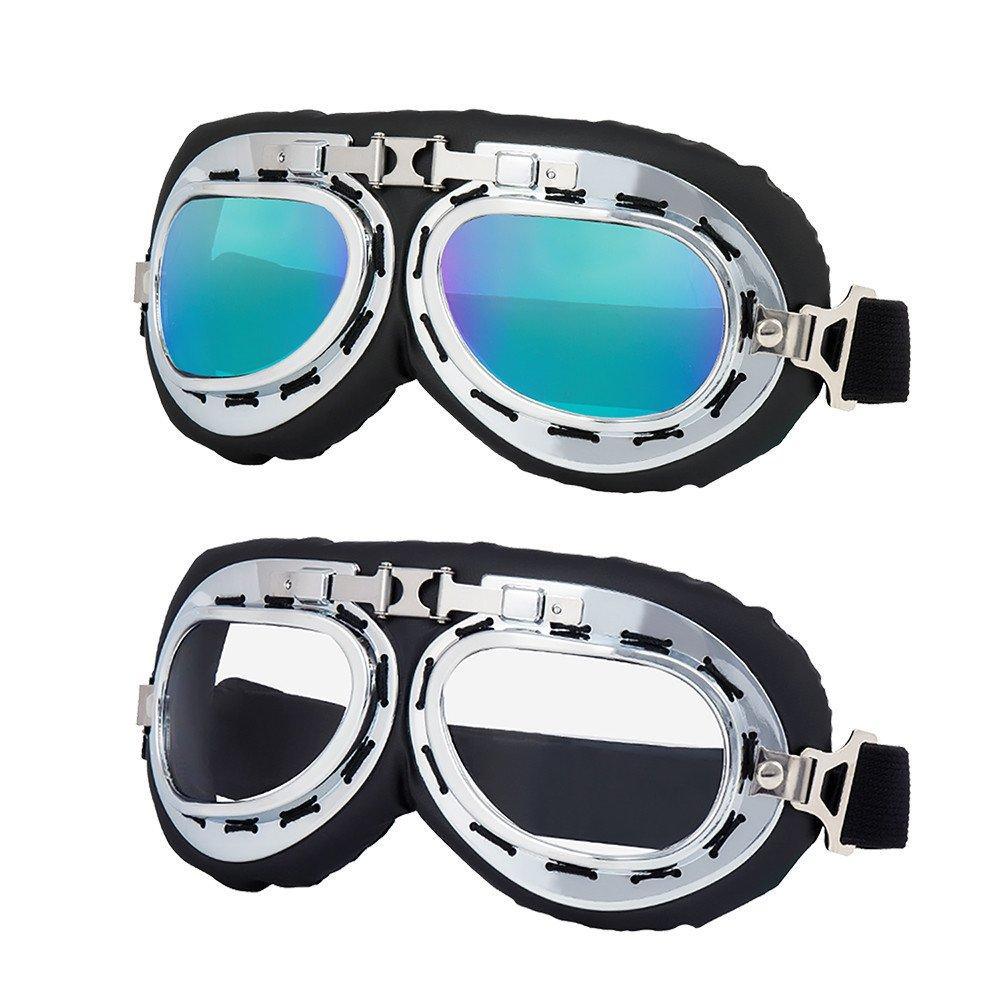 LJDJ Motorcycle Goggles Motocross Adjustable