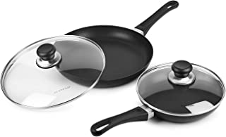 Scanpan Classic Nonstick Fry Pan Skillet Set with Lids (8 & 10.25-inch)